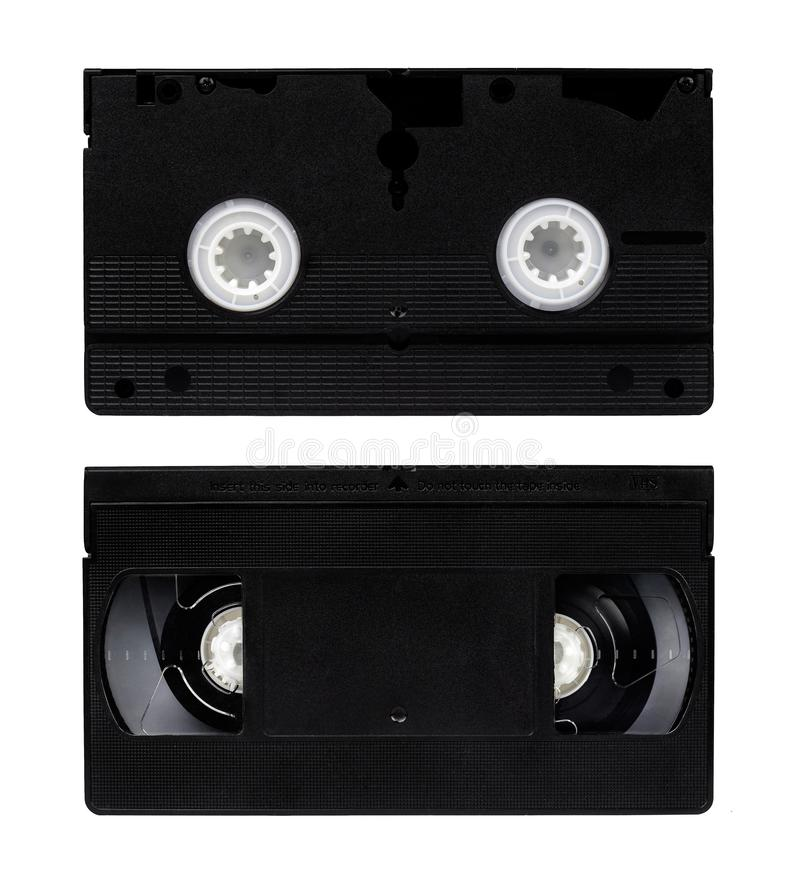 Video tape on both sides. Video tape from two sides on white background royalty free stock image