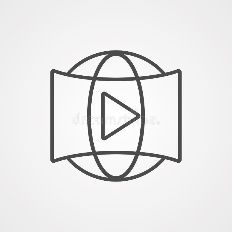360 video vector icon sign symbol royalty free illustration