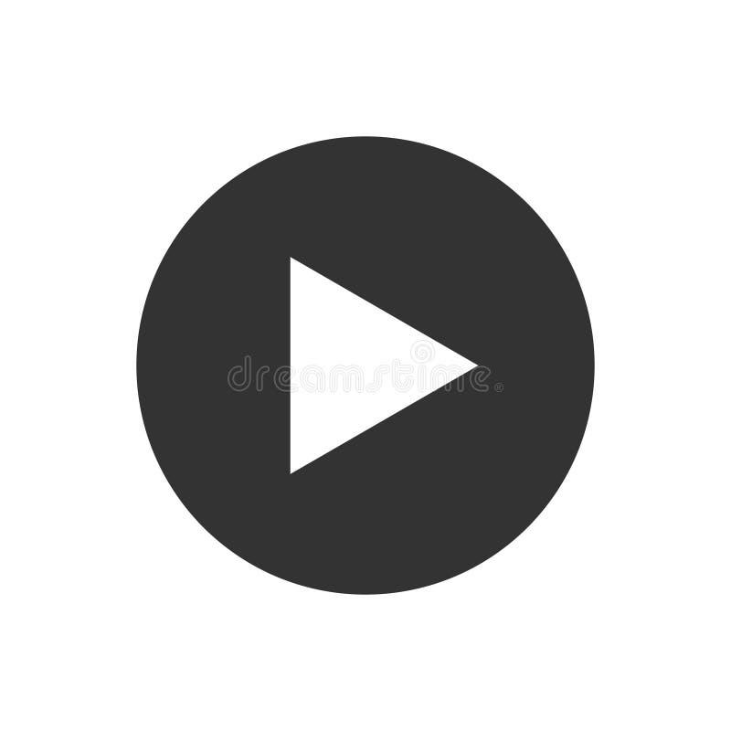 Video vektor för lekknappsymbol för den grafiska designen, logo, webbplats, socialt massmedia, mobil app, uiillustration vektor illustrationer