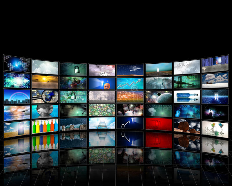 Video Vertoning stock illustratie