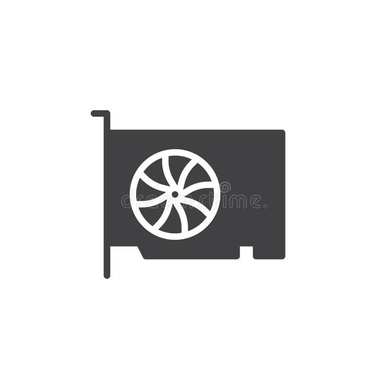 Video vettore dell'icona della carta di gpu illustrazione di stock