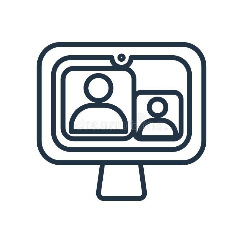 Video vettore dell'icona di chiamata isolato su fondo bianco, video segnale di chiamata illustrazione di stock