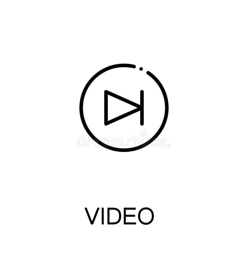 Video vlak pictogram vector illustratie