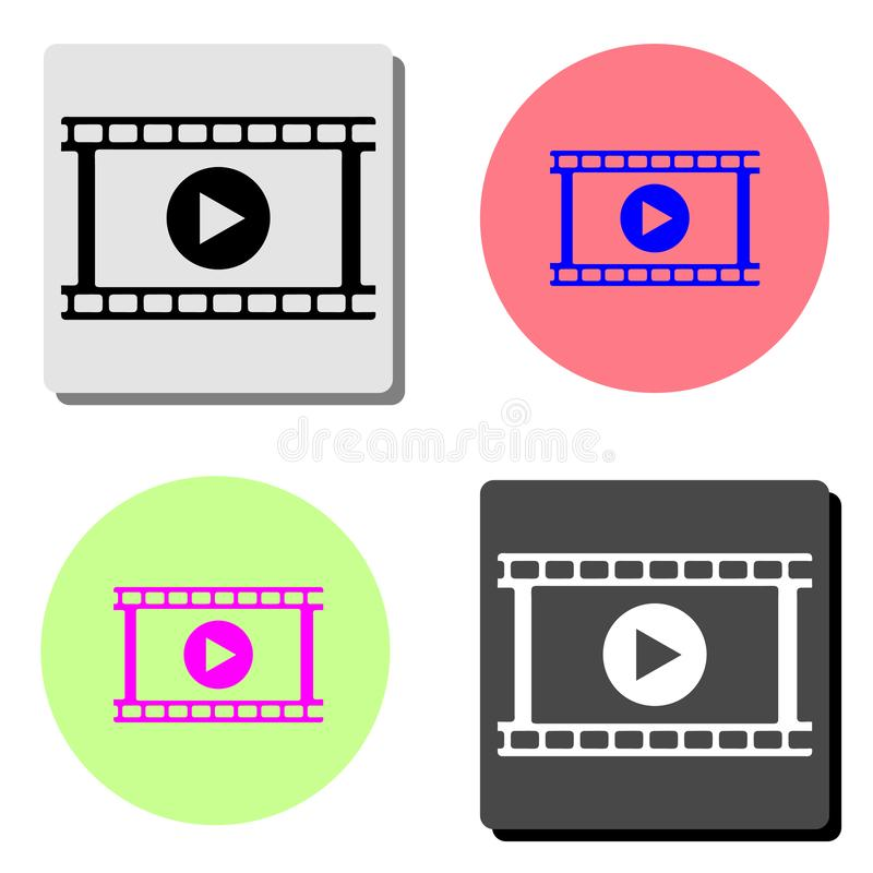 video Vlak vectorpictogram stock illustratie