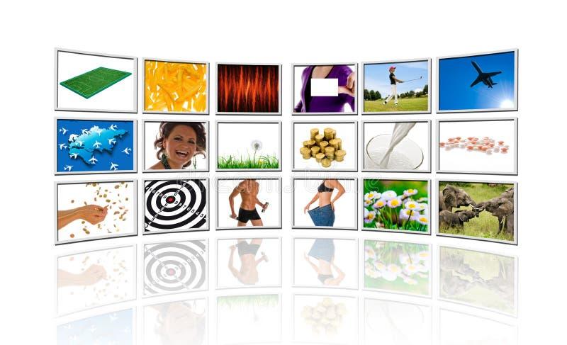 Video wall stock illustration