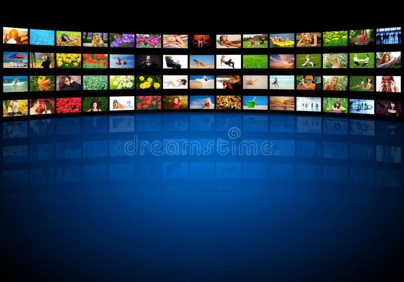 Video wall royalty free stock image