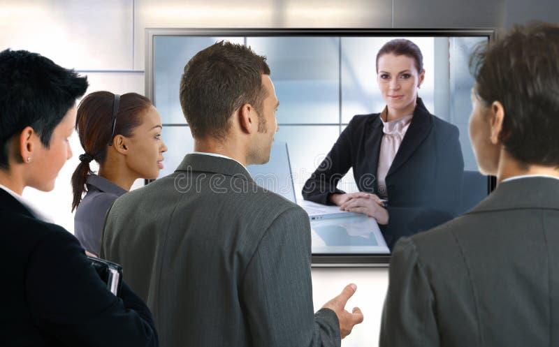 Videoanruf lizenzfreies stockfoto