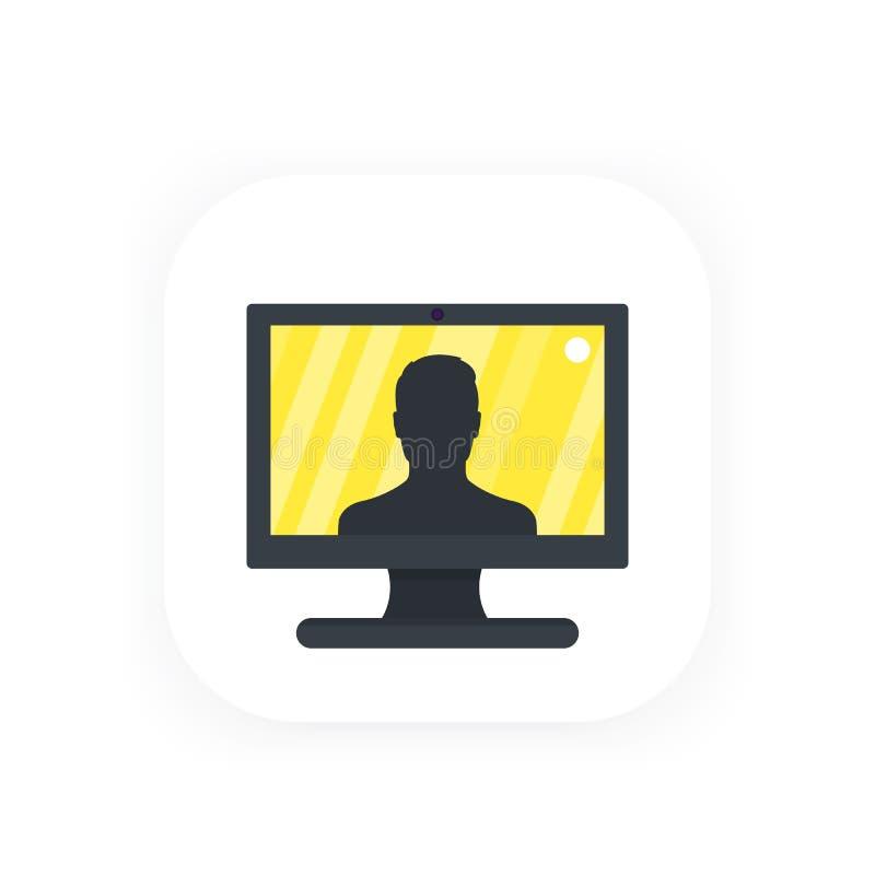 Download Videoanruf, Konferenzikone vektor abbildung. Illustration von geschäft - 96932828