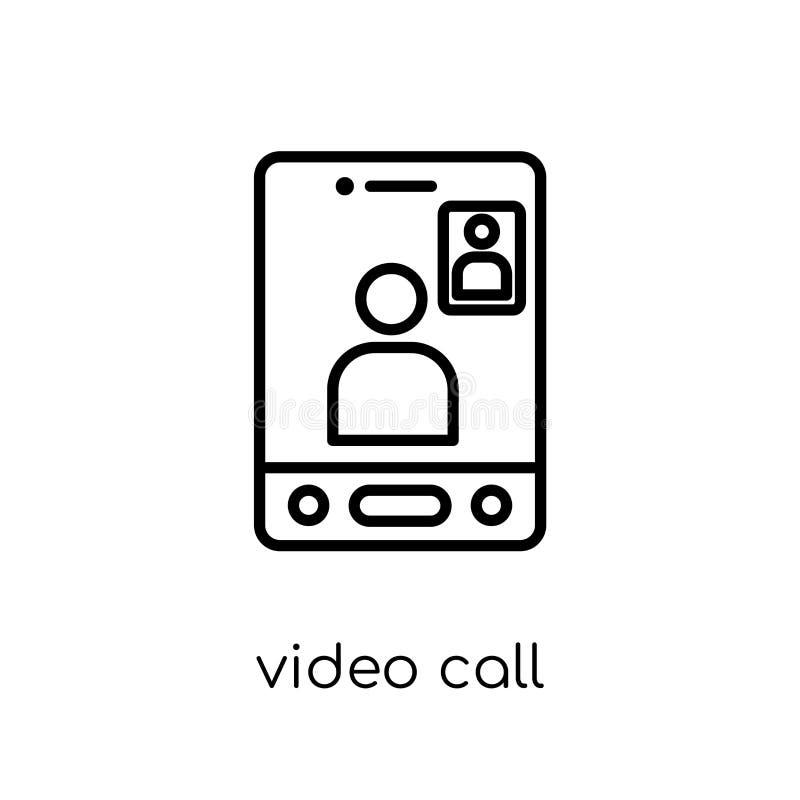 Videoanrufikone von der Kommunikationssammlung stock abbildung