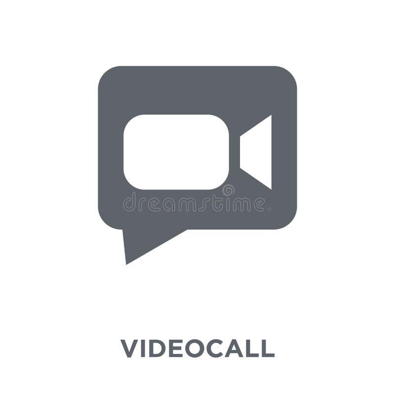 Videoanrufikone von der Personalsammlung lizenzfreie abbildung