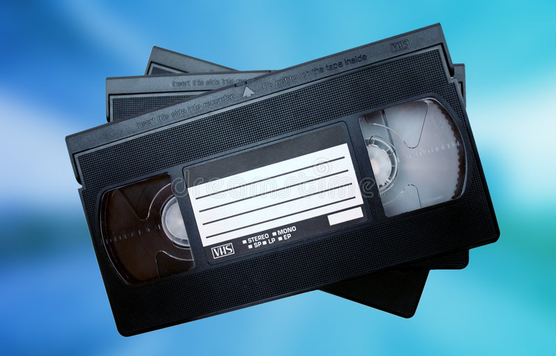Videobänder stockbild