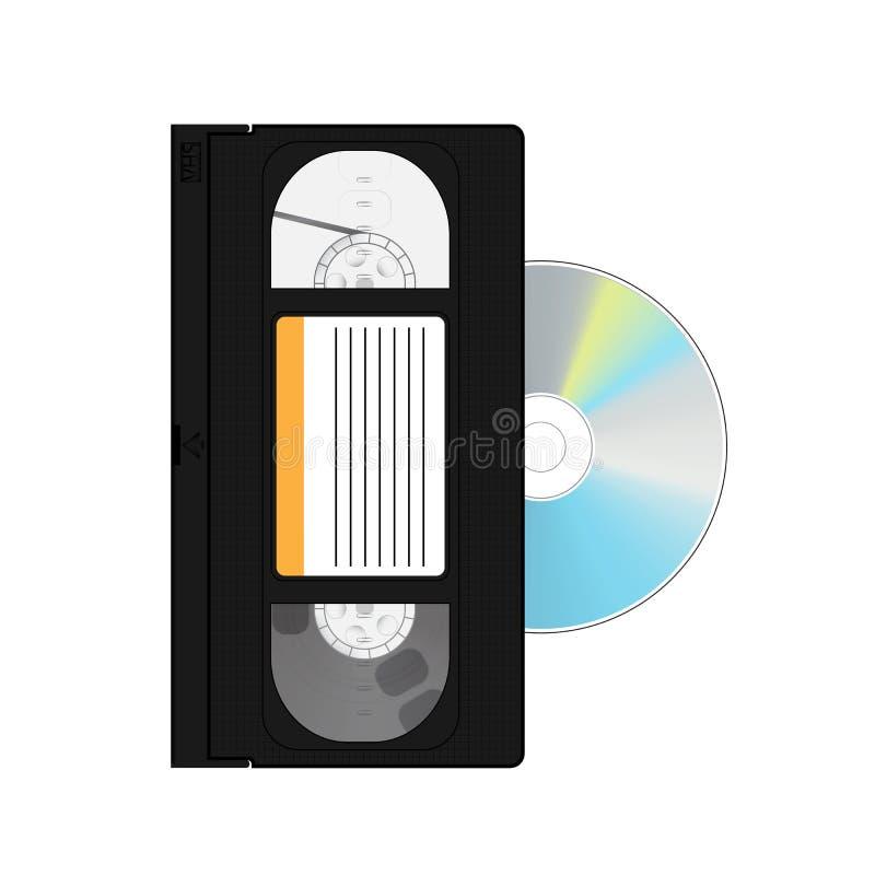 Videoband en schijf royalty-vrije illustratie