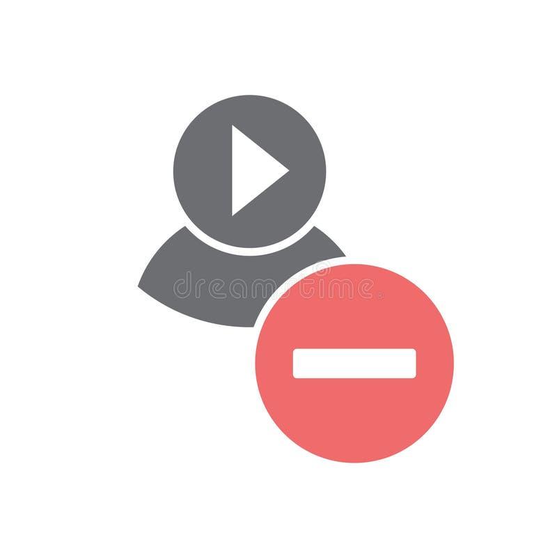 Videoblogger communautair pictogram op witte achtergrond voor grafisch en Webontwerp, Modern eenvoudig vectorteken Het concept va royalty-vrije illustratie