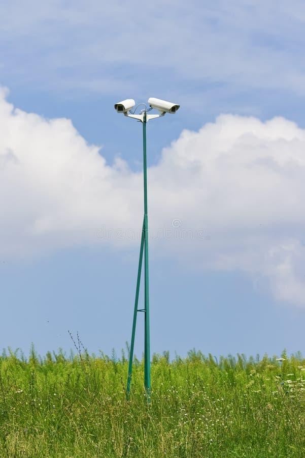 videocamera обеспеченностью поля зеленый стоковое фото