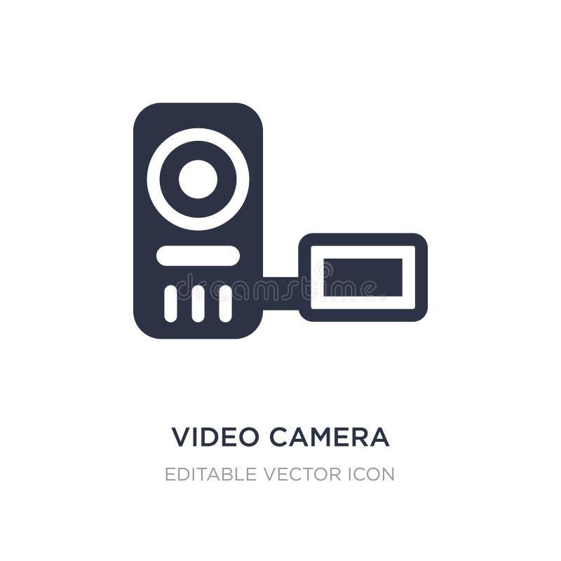 videocamera dall'icona frontale di vista su fondo bianco Illustrazione semplice dell'elemento dal concetto degli utensili e degli royalty illustrazione gratis