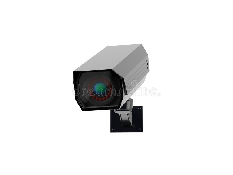 Videocamera di sicurezza bianca del CCTV illustrazione della rappresentazione 3d isolata illustrazione vettoriale