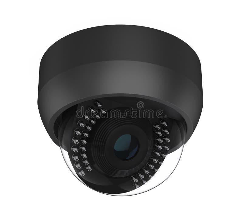 Videocamera di sicurezza del CCTV della cupola isolata illustrazione vettoriale