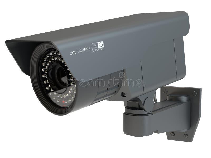 Videocamera di sicurezza, illustrazione 3d illustrazione vettoriale