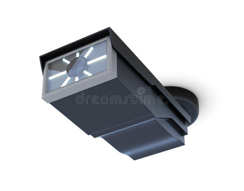 videocamera di sicurezza Soffitto-montata di sorveglianza isolata 3d rendono royalty illustrazione gratis
