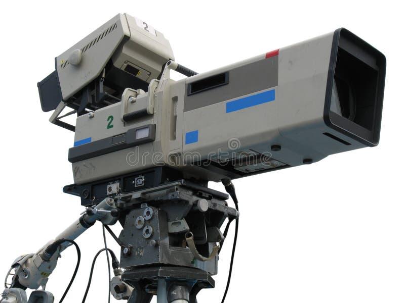 Videocamera digitale dello studio professionale della TV fotografia stock