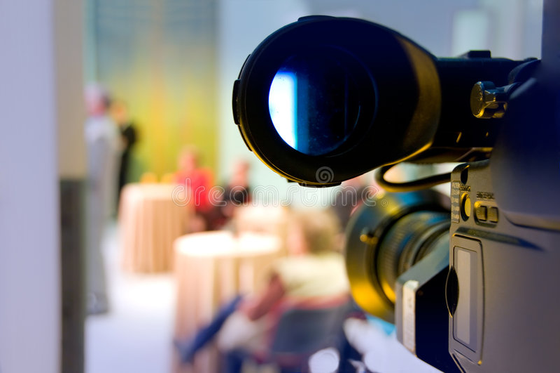 Videocamera digitale professionale fotografie stock