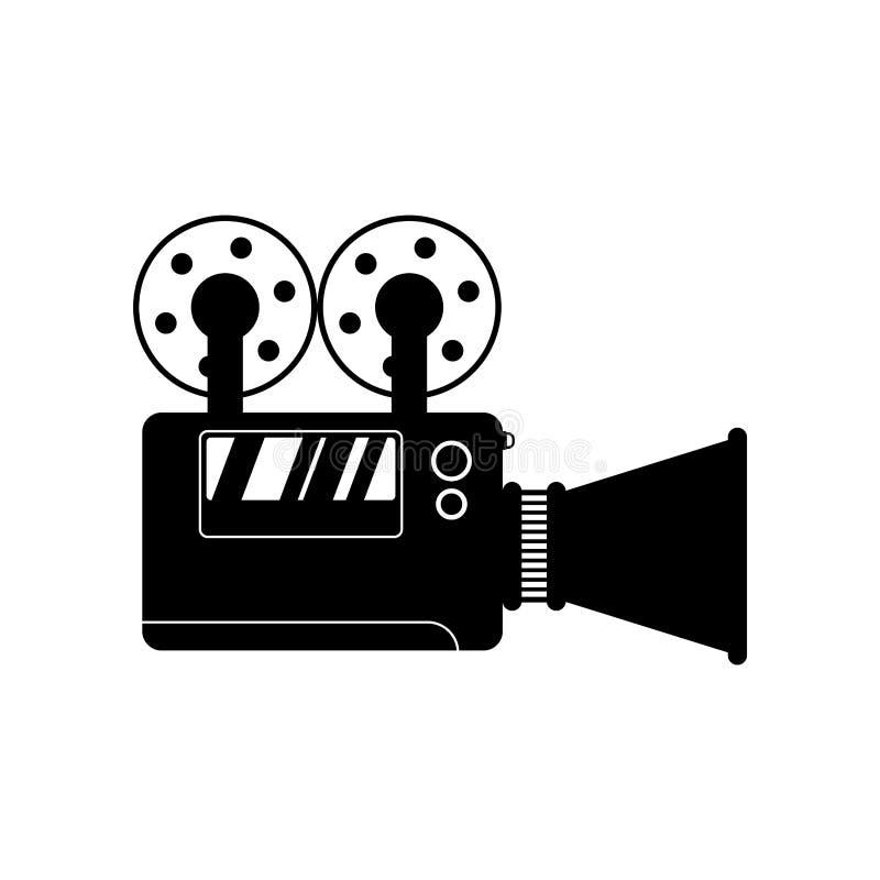 Videocamera isolata segno dell'icona della videocamera portatile Illustrazione di vettore royalty illustrazione gratis