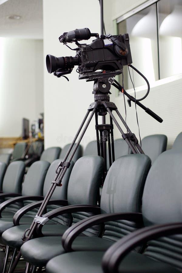 Videocamera portatile della televisione fotografia stock