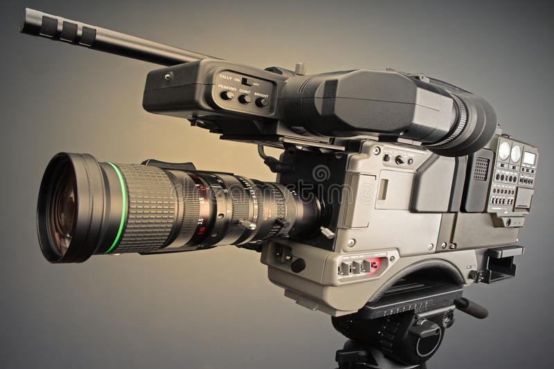 Videocamera portatile di radiodiffusione fotografie stock libere da diritti