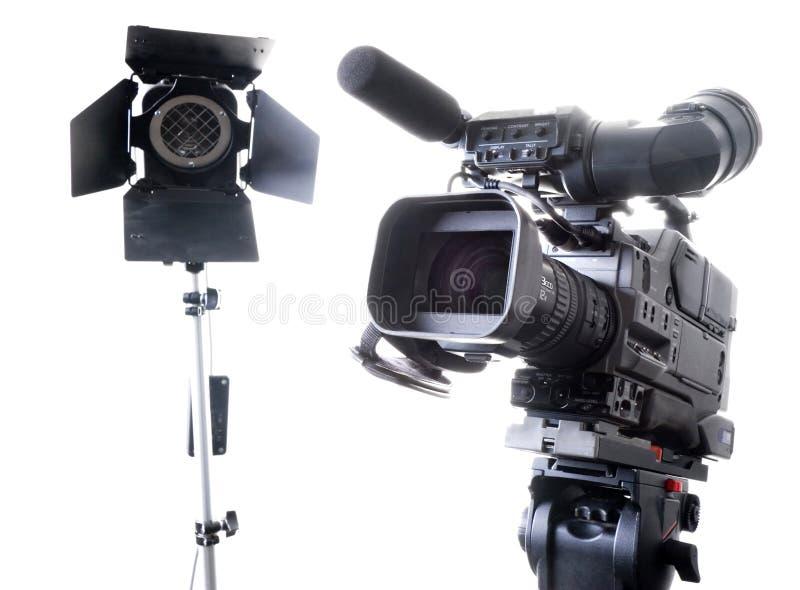 Videocamera portatile ed indicatore luminoso di Dv immagini stock