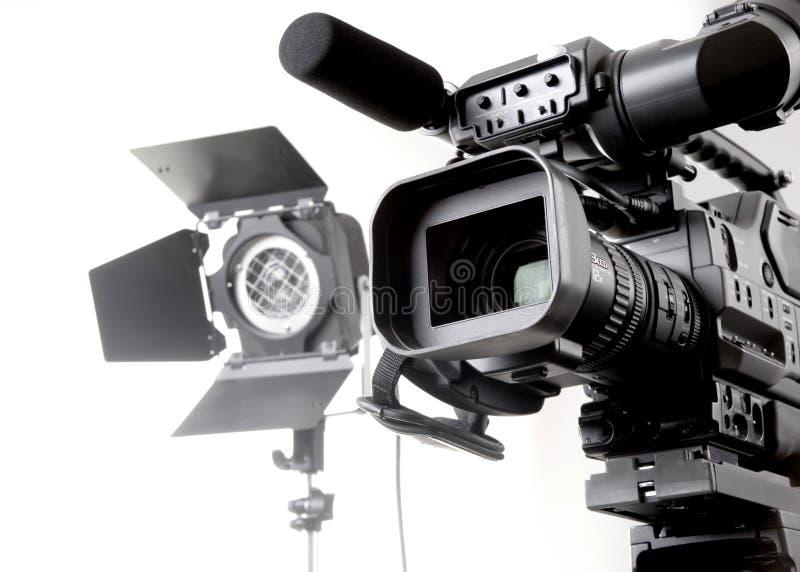 Videocamera portatile ed indicatore luminoso di Dv fotografia stock