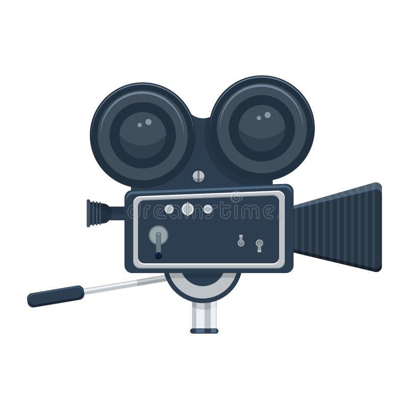 Videocamera vectordieillustratie op witte achtergrond wordt geïsoleerd vector illustratie