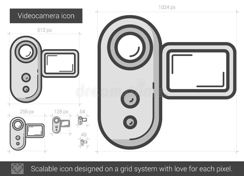 Videocameralinje symbol vektor illustrationer