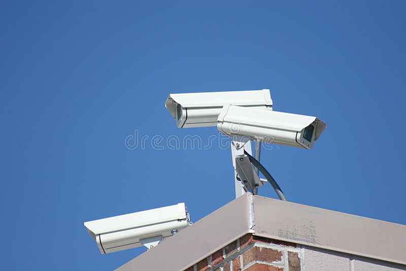 Videocamere di sicurezza 2 immagini stock
