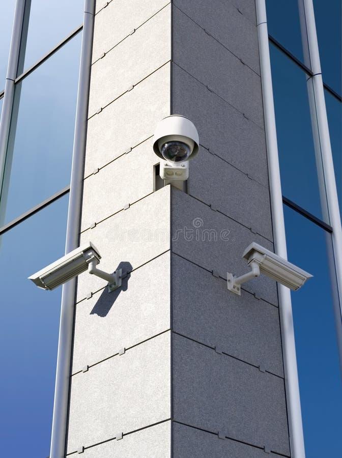 Videocamere di sicurezza fotografia stock libera da diritti