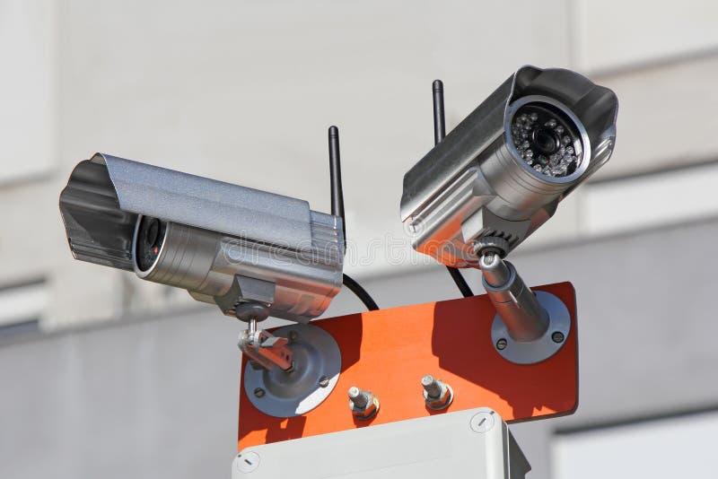 Videocamere di sicurezza immagini stock