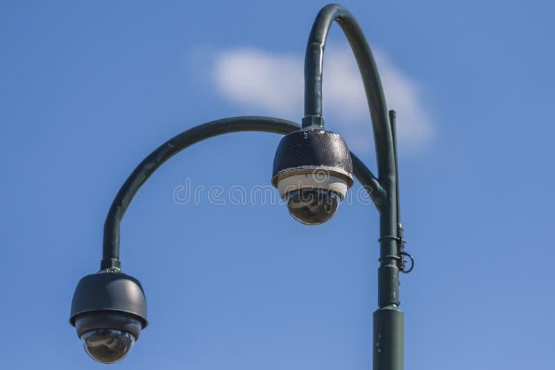 Videocamere di sicurezza del CCTV di sorveglianza fotografia stock