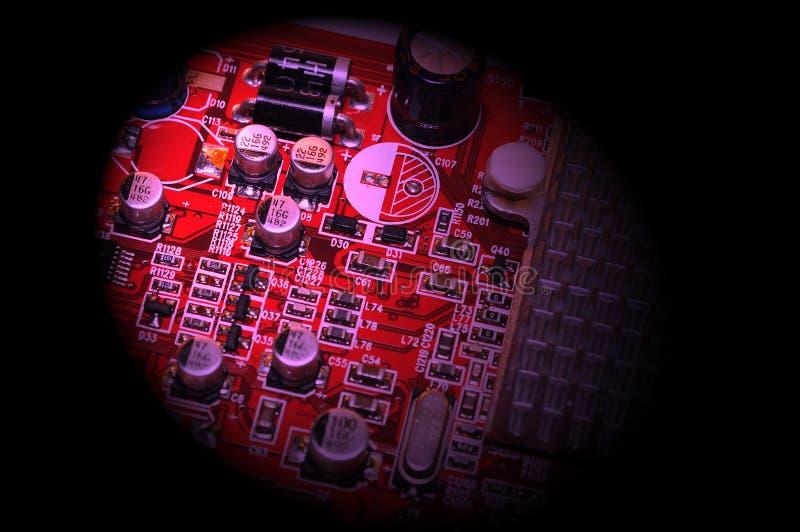 Videocard del ordenador imagen de archivo