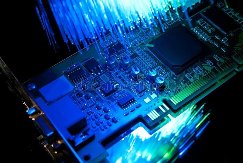 Videocard velho do computador imagens de stock