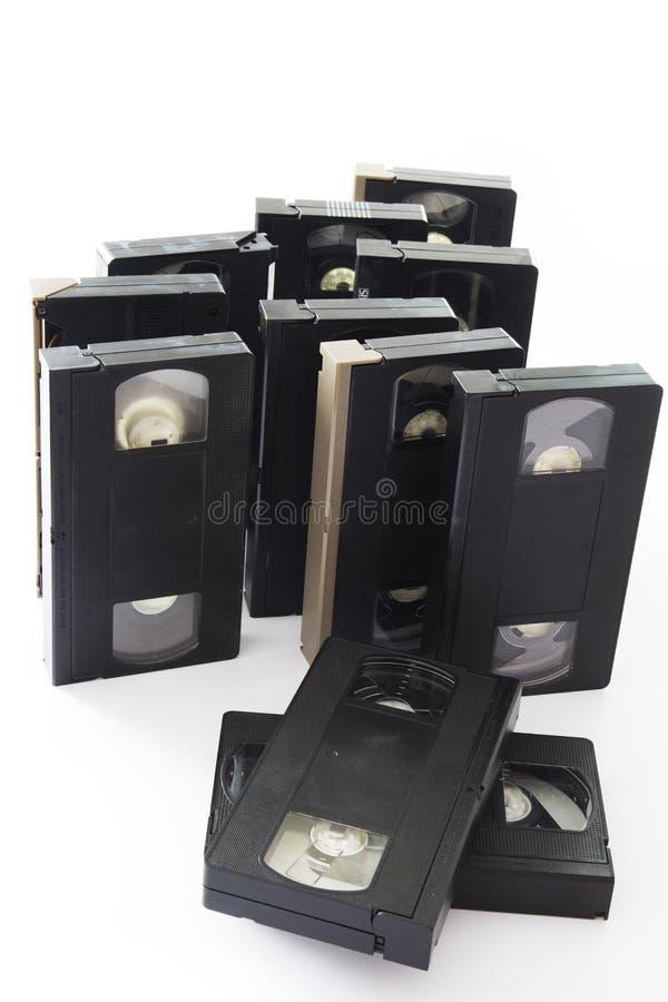 videocassette royaltyfria bilder