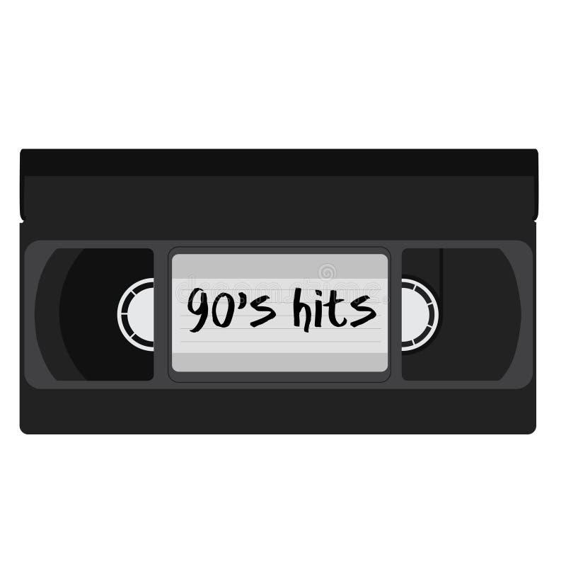 Videocassette vector illustratie