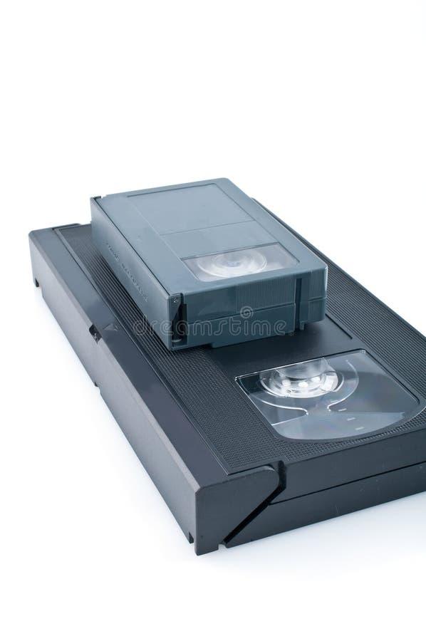 Videocassette compacto e VHS fotografia de stock royalty free