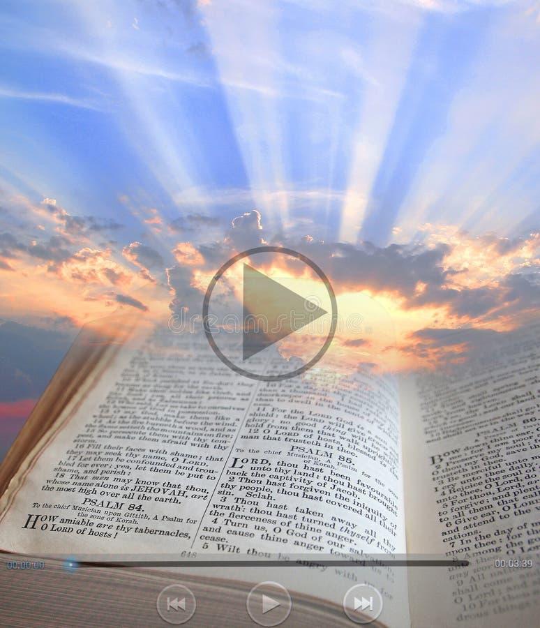 Videoclip ligero de la biblia fotografía de archivo libre de regalías
