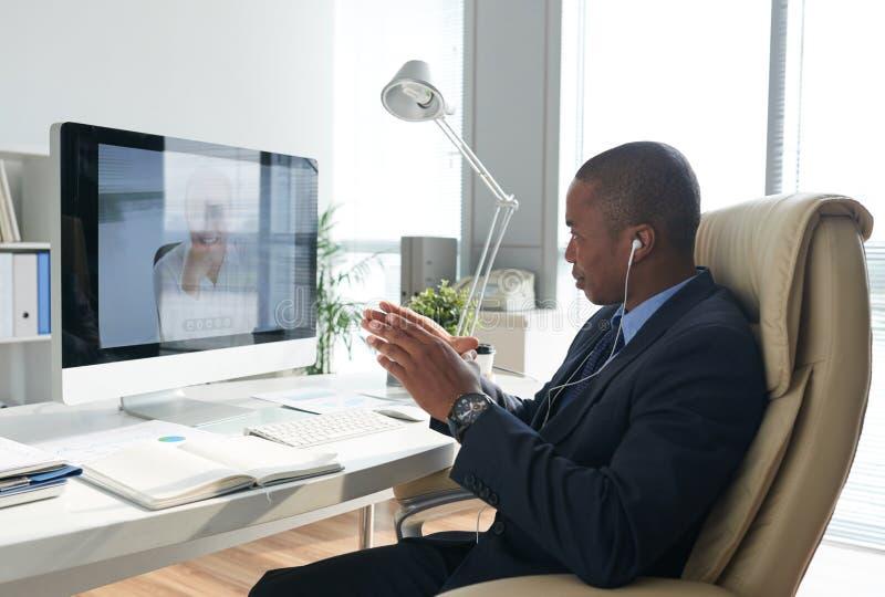 Videoconferência fotos de stock royalty free