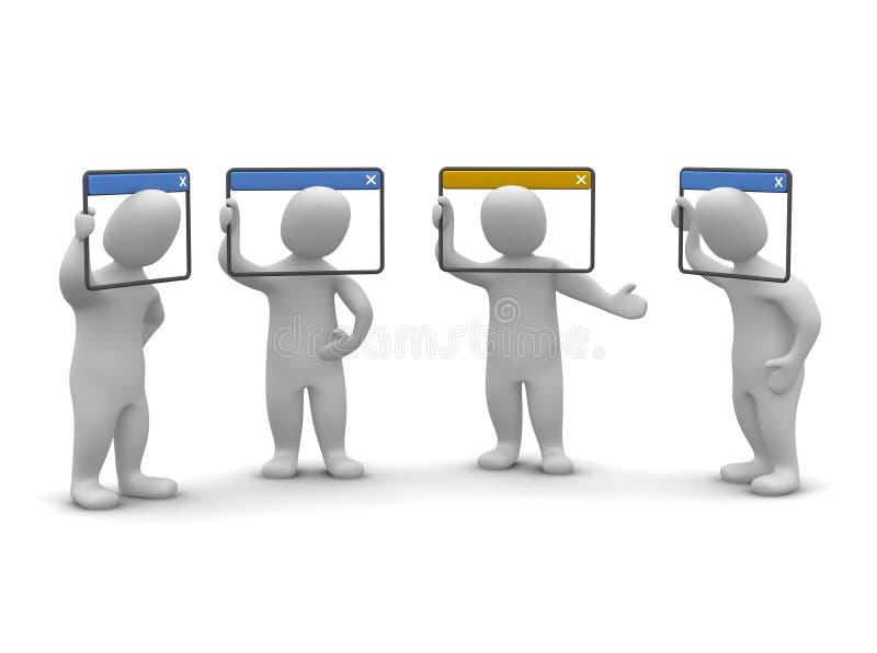 Videoconferência do Internet ilustração stock