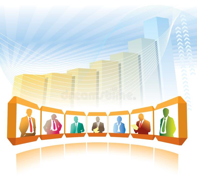 Download Videoconference stock vector. Illustration of illustration - 27263849