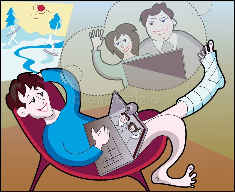 Videoconferencia   stock de ilustración