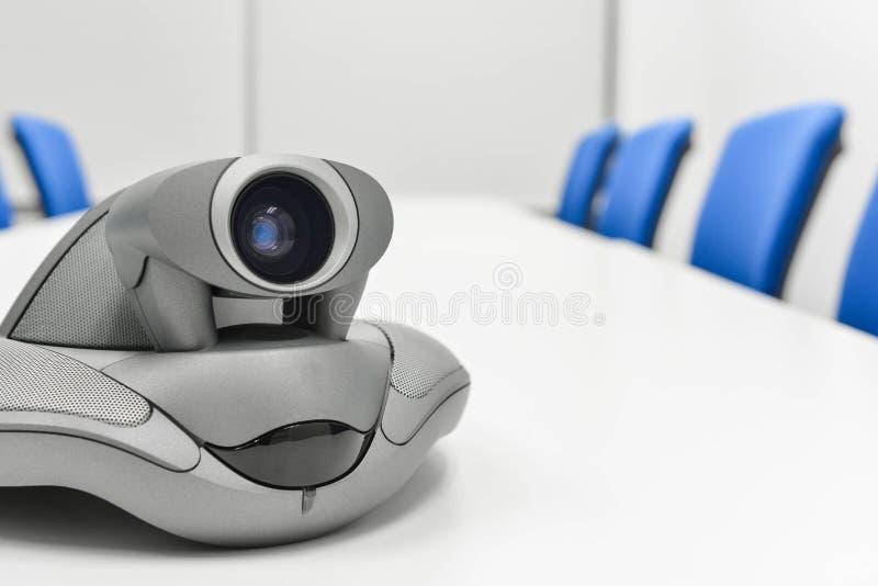 Videoconferentieapparaat in de vergaderzaal royalty-vrije stock foto