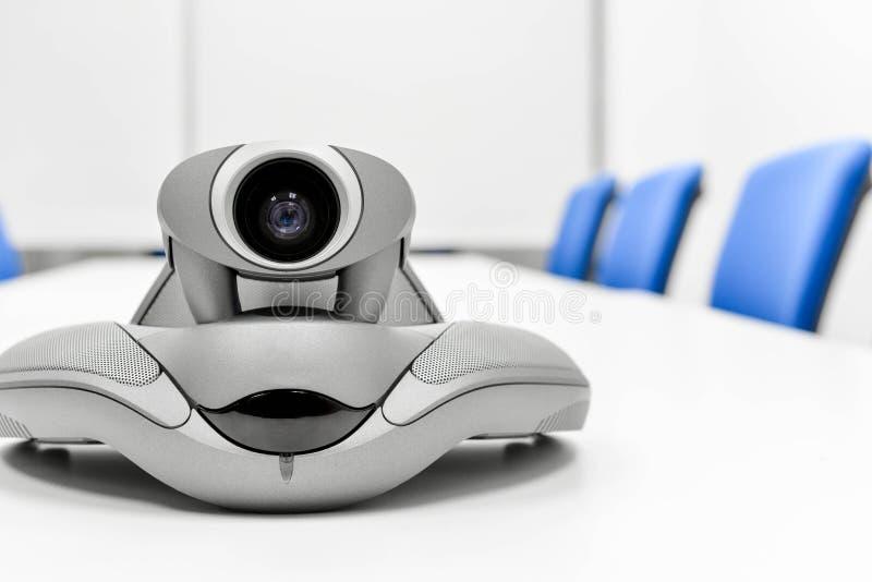 Videoconferentieapparaat in de vergaderzaal royalty-vrije stock foto's