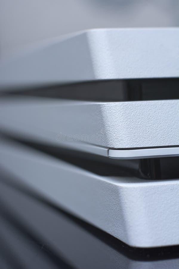 Videoconsola Macro de la consola del videojuego Cierre para arriba imagen de archivo libre de regalías
