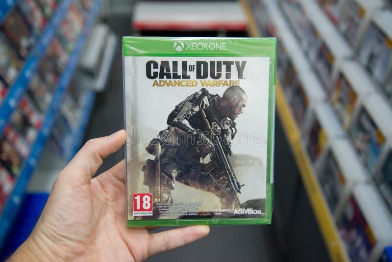 Videogame avançado da guerra do call of duty em XBOX um fotografia de stock royalty free